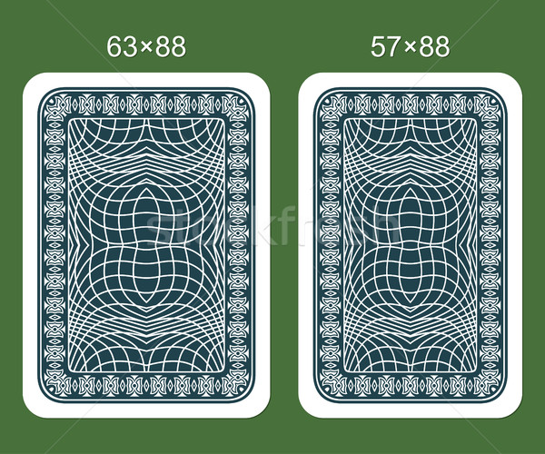 Maakt een reservekopie ontwerpen spelen kaart twee klassiek Stockfoto © Silanti