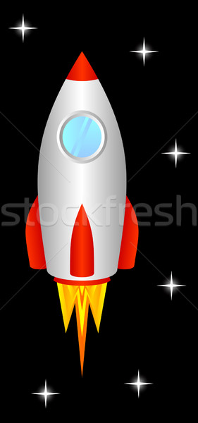 Space rocket. Stock photo © Silanti