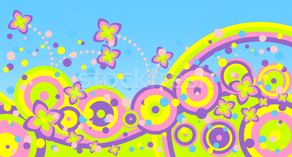 Verano resumen diferente flores fondo arco iris Foto stock © Silanti