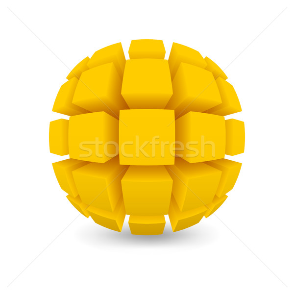 Divided yellow sphere  Stock photo © Silanti