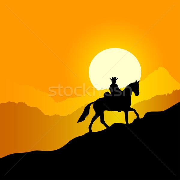 Rider on a walk. Stock photo © Silanti