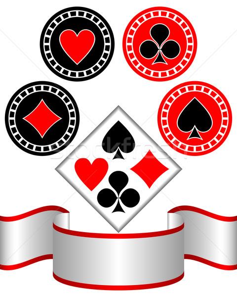 Symbols of playing cards. Stock photo © Silanti