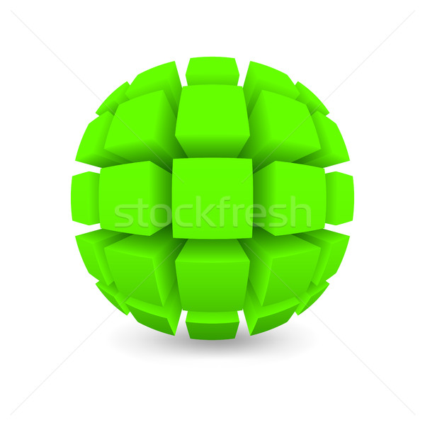 Divided green sphere  Stock photo © Silanti