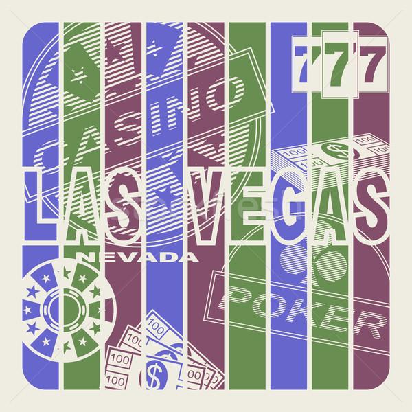 Las Vegas cidade abstrato projeto assinar cassino Foto stock © Silanti