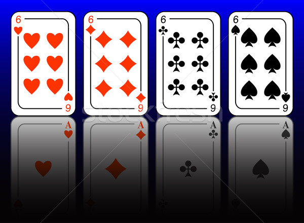 Aces and sixes. Stock photo © Silanti