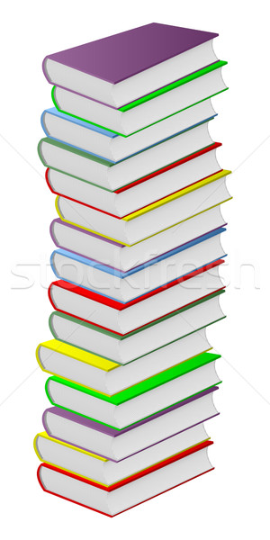 Multicolored books. Stock photo © Silanti