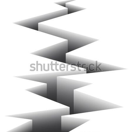 Spleet witte oppervlak twee onderdelen abstract Stockfoto © Silanti
