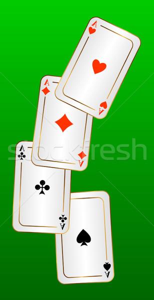 Four aces. Stock photo © Silanti