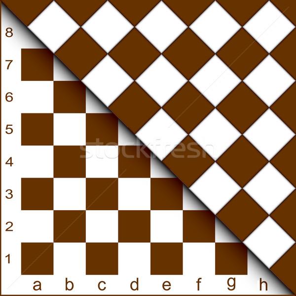 Chessboard half. Stock photo © Silanti
