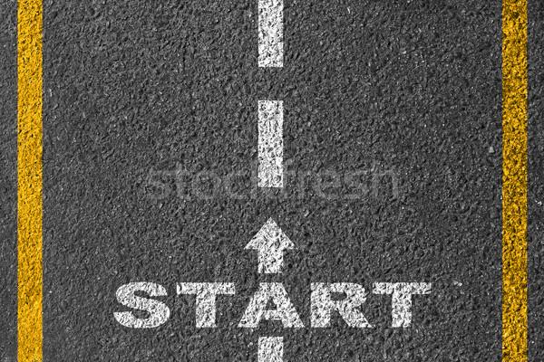 Start on the road Stock photo © Silanti