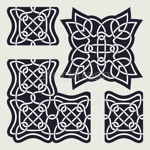 Celtic ornamento pattern simile confine angolo Foto d'archivio © Silanti
