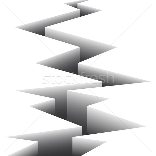 Big crack on a white surface  Stock photo © Silanti