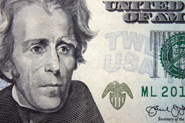 Vinte dólar dinheiro cara financiar Foto stock © Silanti