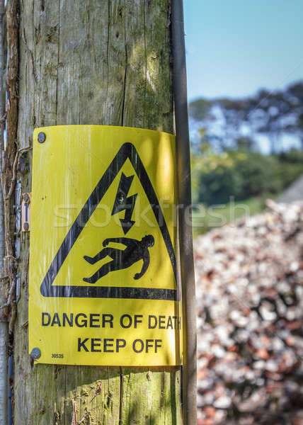 Danger of Death Warning Sign Stock photo © silkenphotography