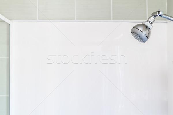 Vide douche blanche mur courir murs Photo stock © silkenphotography