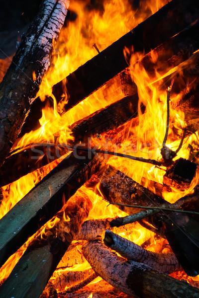 Burning Bonfire Stock photo © silkenphotography