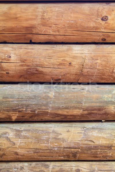 Log cabin wall vertical Stock photo © silkenphotography