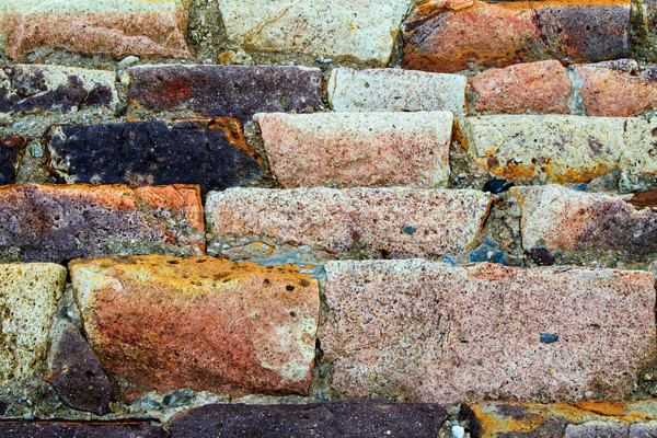 砂岩 海 壁 カラフル オレンジ ピンク ストックフォト © silkenphotography
