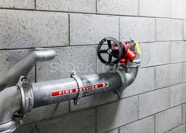 Fire Service Water Pipe Stock photo © silkenphotography