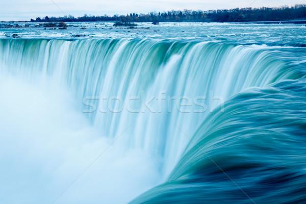 Niagara Falls water rand hoefijzer Canada natuur Stockfoto © silkenphotography