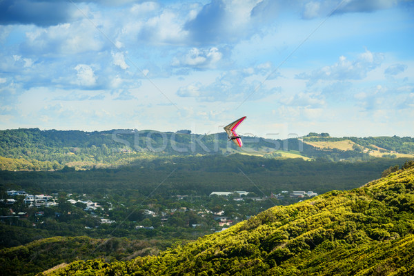 Hang Glider over the Valley Stock photo © silkenphotography