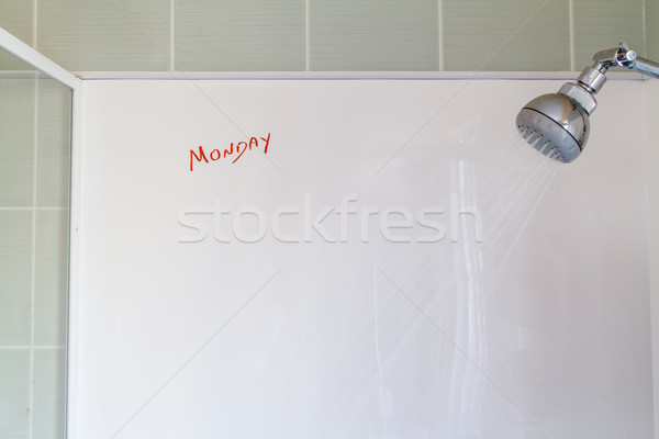 Monday thoughts in the morning shower Stock photo © silkenphotography