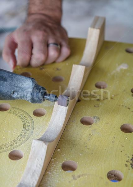 Sanding Wood Stock photo © silkenphotography