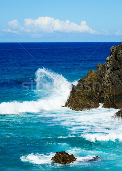 Foto stock: Onda · profundo · azul · oceano