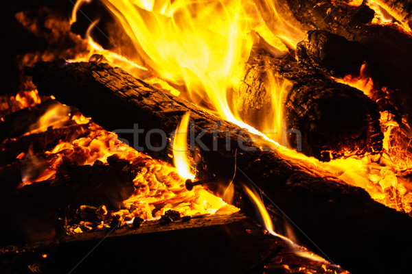 Hot Flames and Charcoal Stock photo © silkenphotography