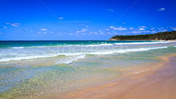 Henger tengerpart nyár sziget Queensland Ausztrália Stock fotó © silkenphotography