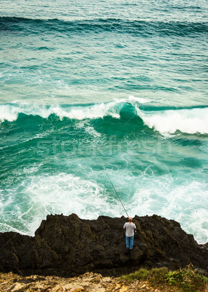Rock Fishing Stock photo © silkenphotography