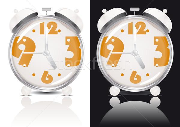 White Alarm Clock Stock photo © simas2
