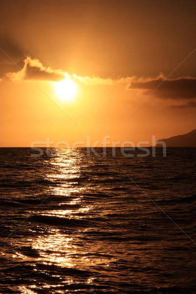 Puesta de sol mar luz fondo verano océano Foto stock © simas2