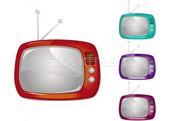Retro Television (Global Swatches Included) Stock photo © simas2