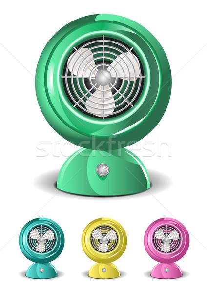Vintage ventilador retro ilustración global fondo Foto stock © simas2