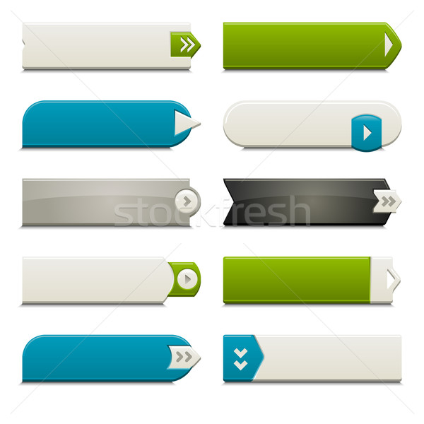 Flat Web Buttons Elements Stock photo © simas2