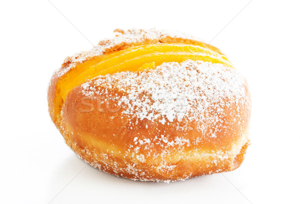 Berliner with egg creme over white and sugar Stock photo © simas2