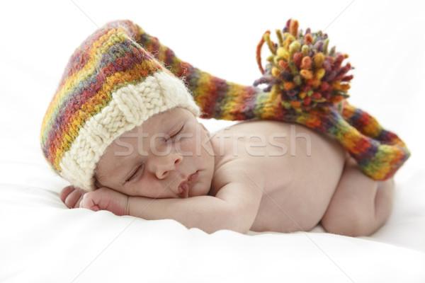 Dormit nou-nascut copil lung familie Imagine de stoc © simas2