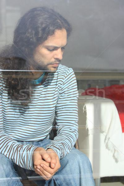 Genç portre yakışıklı içinde oturma odası Stok fotoğraf © simas2