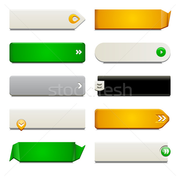 Flat Web Button Elements Stock photo © simas2