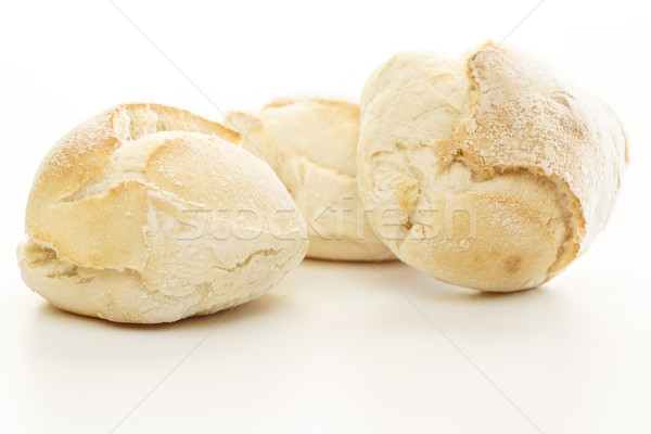 Fresh Bread Over White Stock photo © simas2
