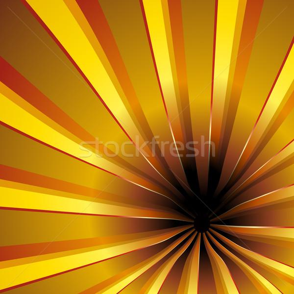 Spiralis dourado belo luz Foto stock © simas2