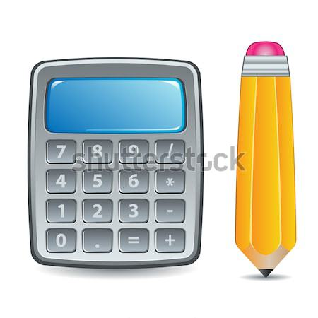 Calculator and Pencil Stock photo © simas2