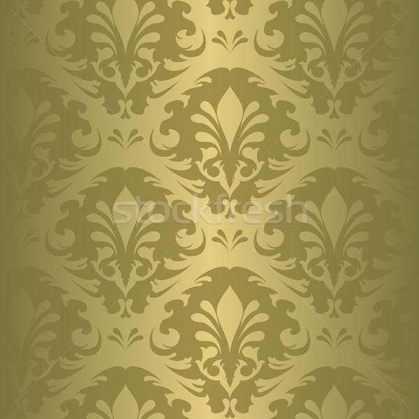 Floral patrón ilustración blanco negro vintage naturaleza Foto stock © simas2