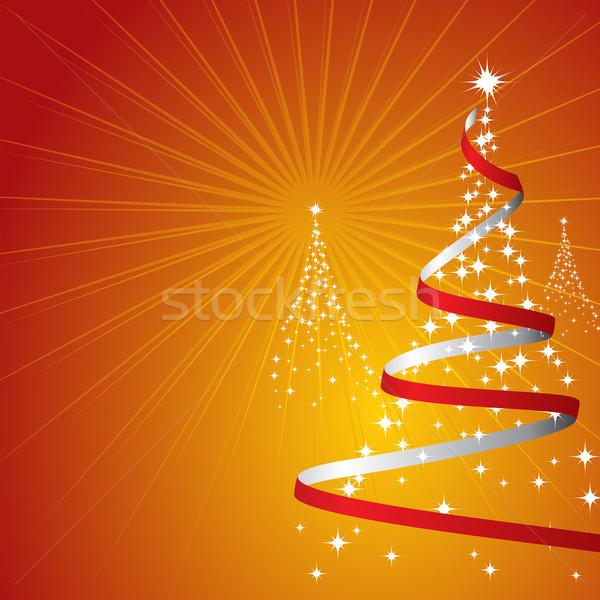 Noel ağaçlar dizayn arka plan star kırmızı Stok fotoğraf © simas2