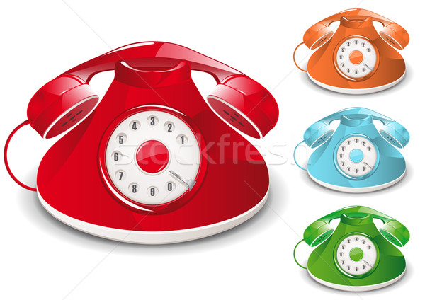 Retro telefoon illustratie globale business Rood Stockfoto © simas2