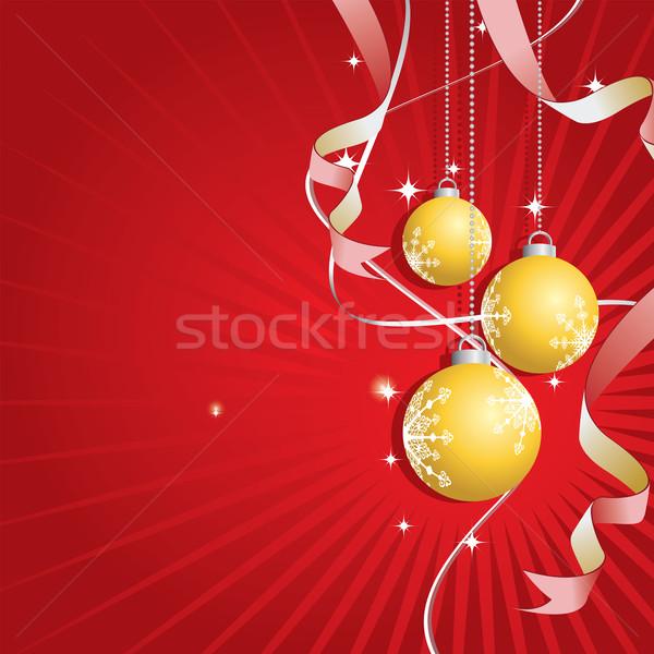 Christmas złoty projektu tle star Zdjęcia stock © simas2