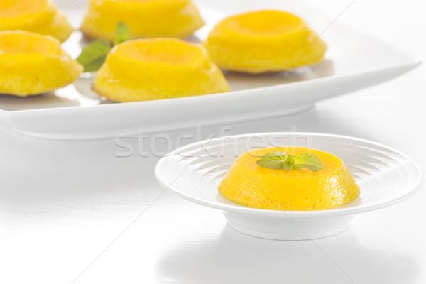 Quindim - Brazilian Coconut Flan Stock photo © simas2
