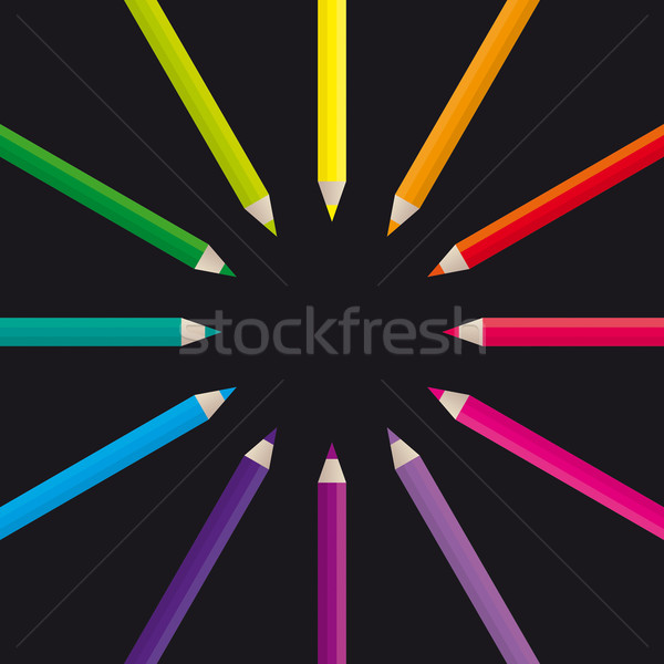 Pencils Color Wheel Stock photo © simas2