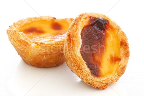 Natillas empanadas blanco típico pastel huevo Foto stock © simas2